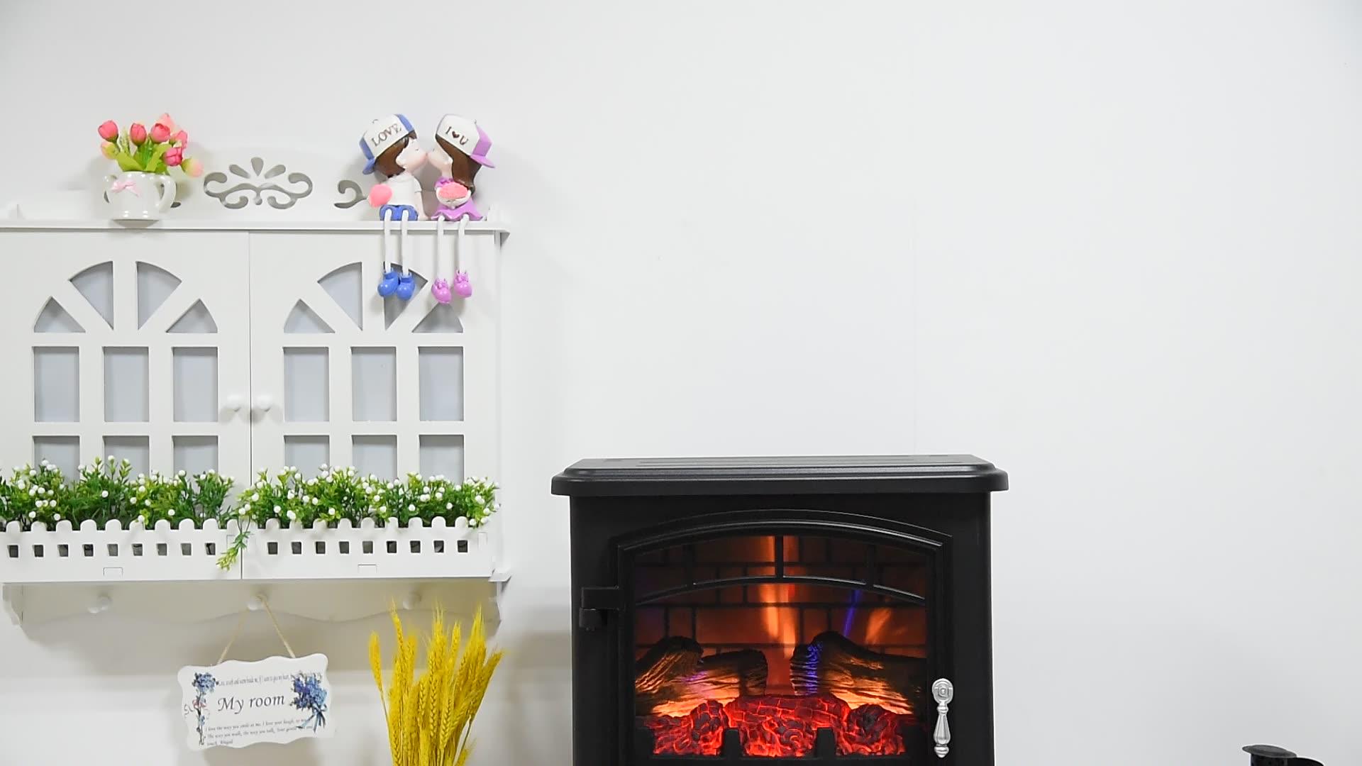 독립형 3D 불꽃 다색 효과 17 인치 3 사이드 전기 벽난로 판매