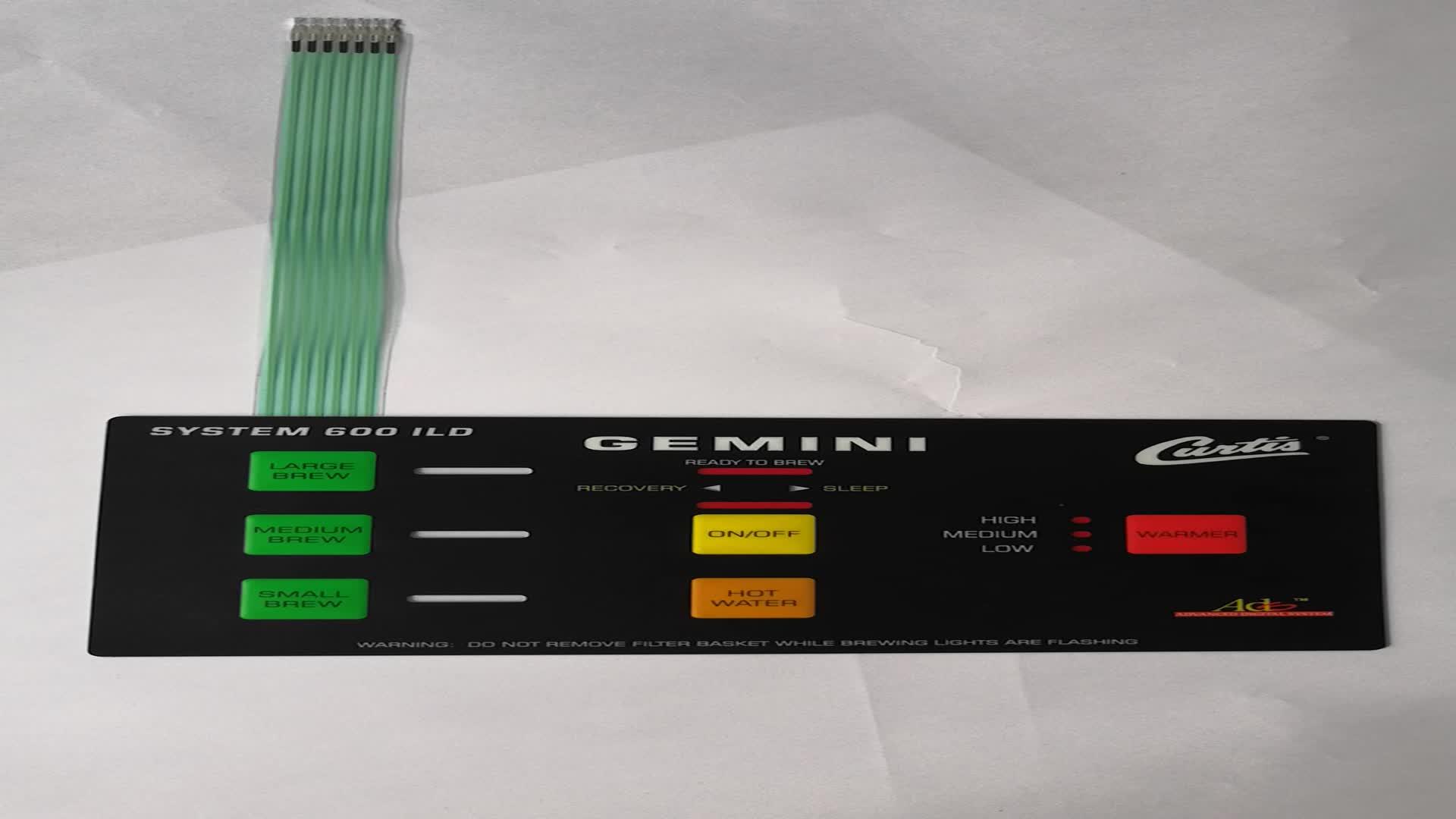 Custom Membrane Switch Keycaps Membrane Keyboard PC Overlay