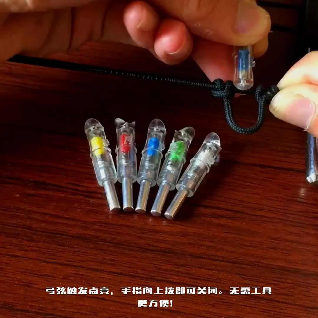 Kruisboog Pijl LED nokken Nieuwe Bowstring Activited Verlichte Nokken Licht Zeven Verschillende Kleuren In Een Nock