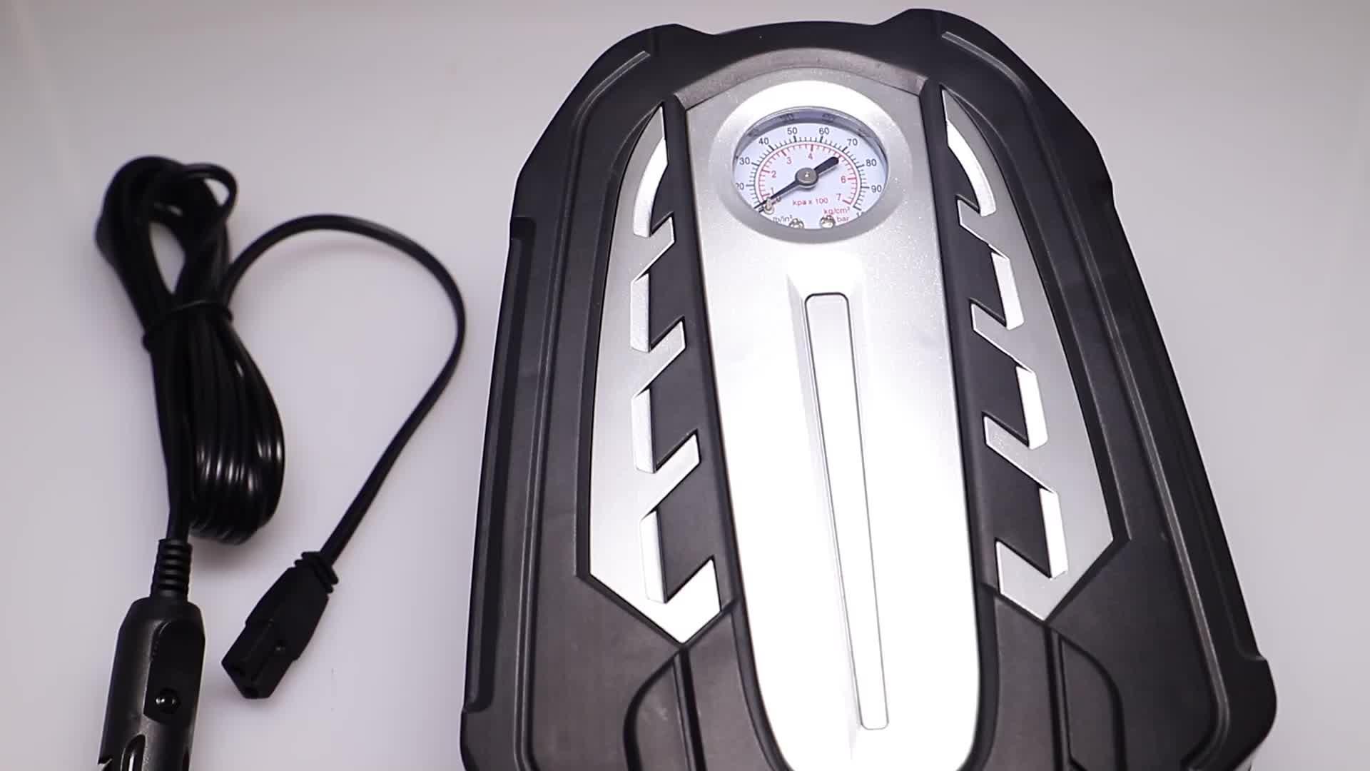automatic powerful pump with led light portable 12 volt mini car tire air compressor