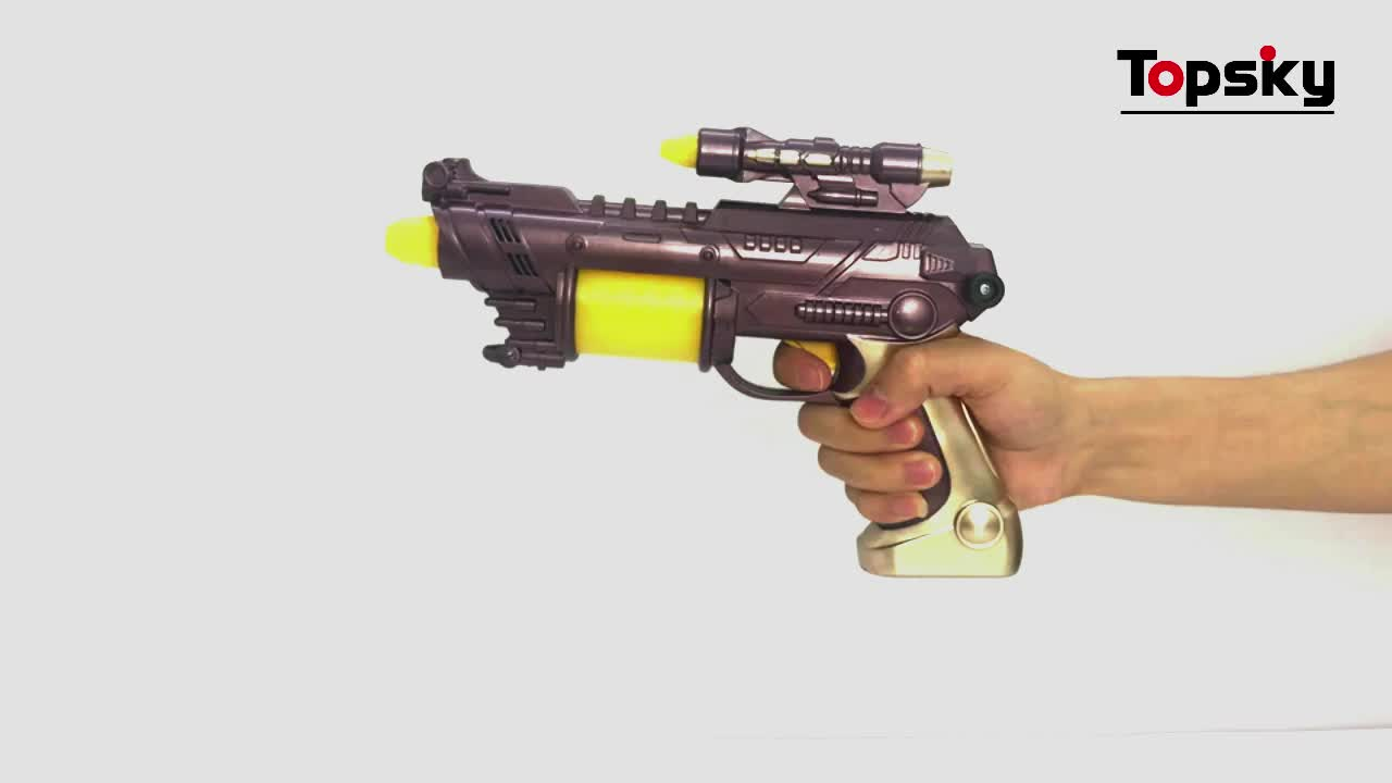 LED flashing space blaster gun toys with sounds kids high tech for party