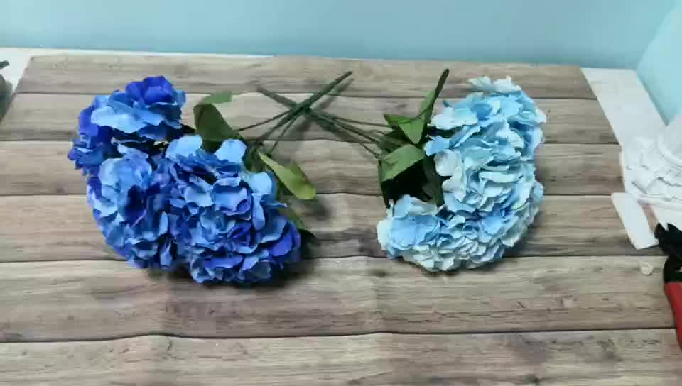 Cheap wholesale artificial silk hydrangea for wedding flower bouquet