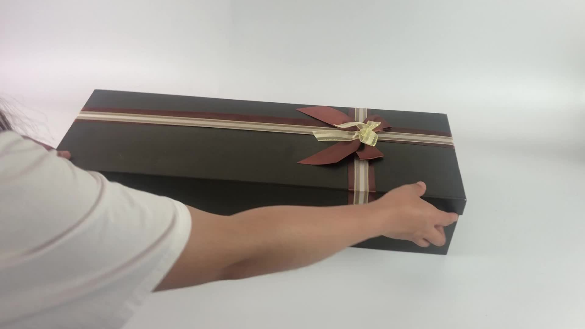 Wholesale paper cardboard luxury flower bouquet shop package box for rose packaging