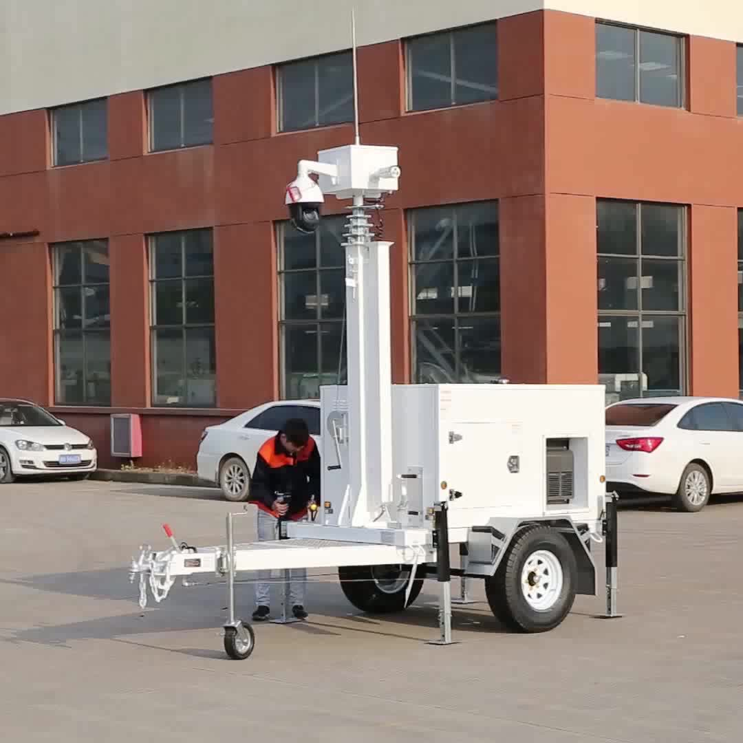 solar energy mobile CCTV trailer of digital lomo camera