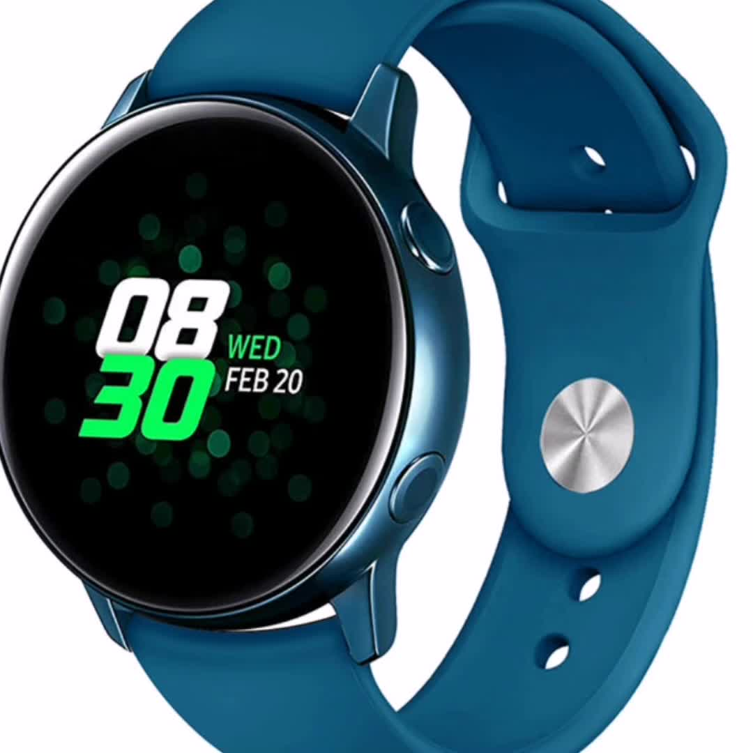 2019 For Samsung Galaxy Watch Active Bands, 20mm Soft Silicone Sport Band Replacement Strap