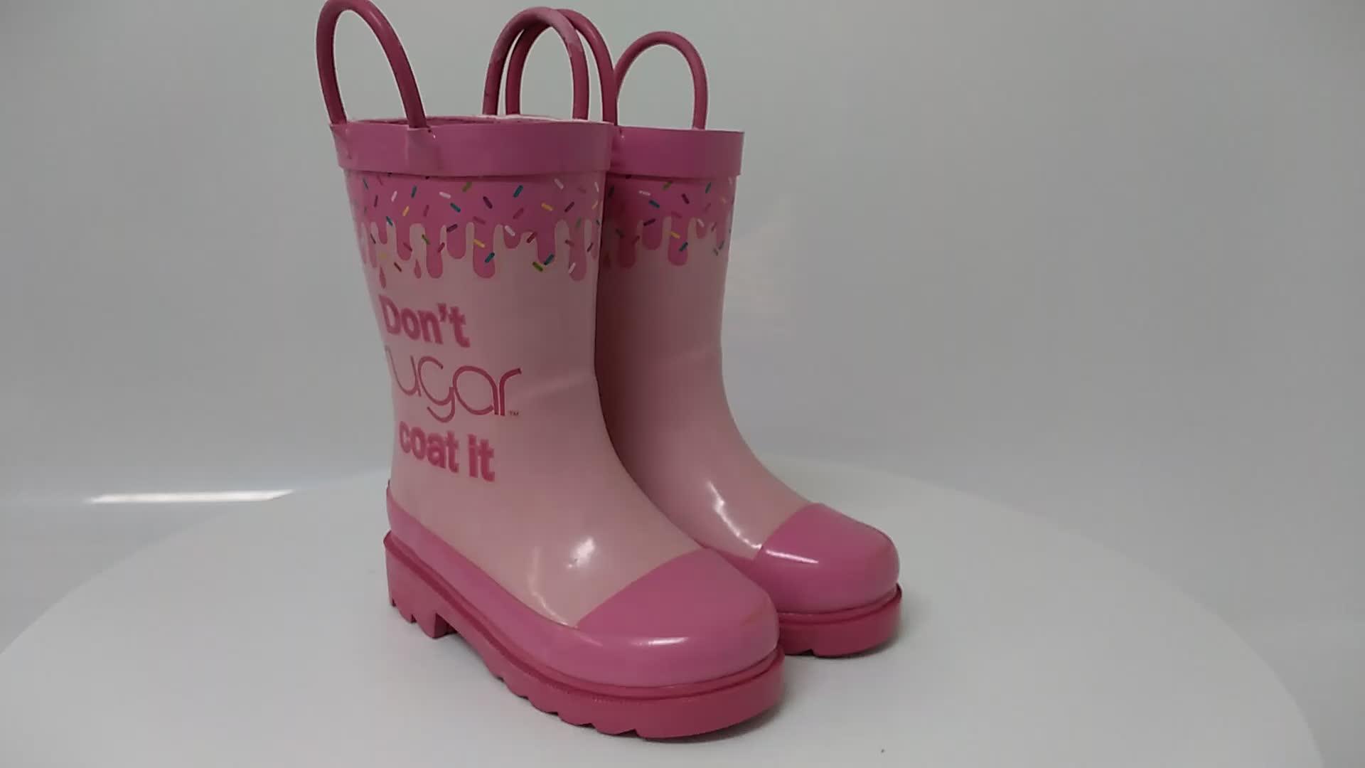 Western Cheif KIDS shark rain boots wellies water size 8 EUC girls or boys Waterproof shoes rain boots wholesale