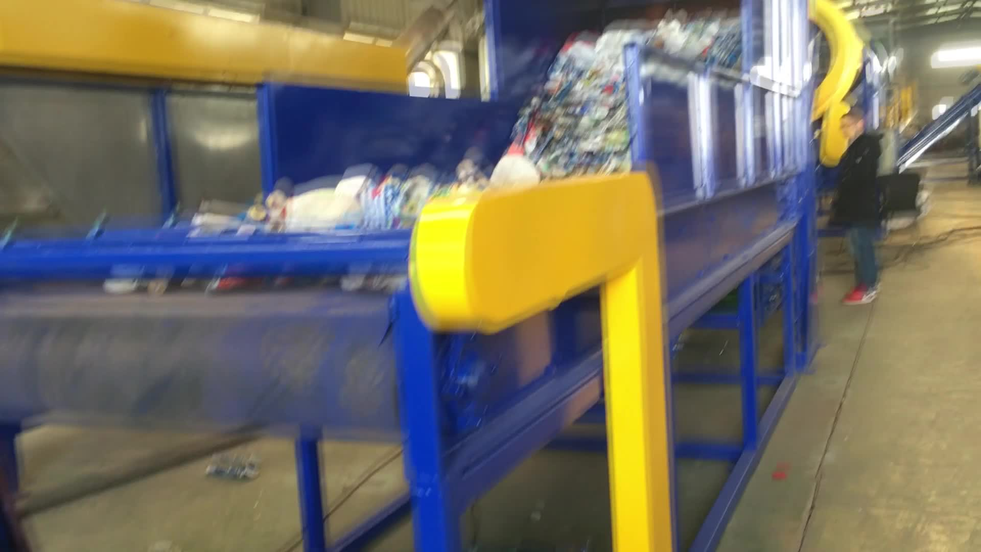 고속 탈수 맞춤형 HDPE 플라스틱 병 재활용 기계