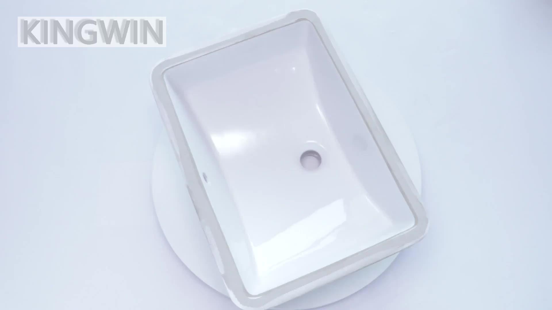 Vanité upc En Porcelaine Évier En Céramique Lavabo Évier Lavabo en Blanc Sous Évier 2214