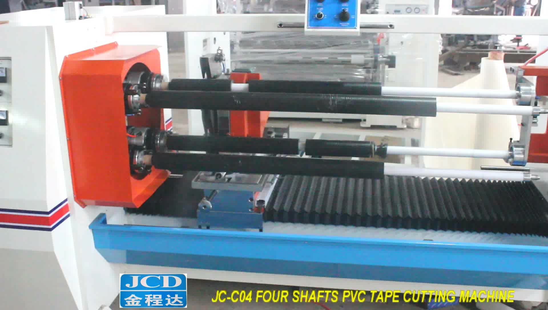 Automatic four shafts cutting machine for BOPP Tape log roll