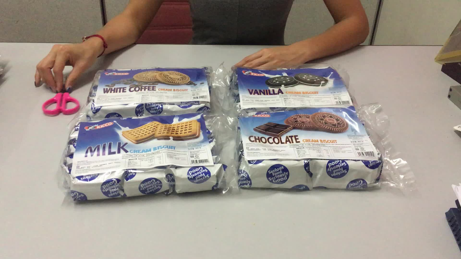 Crème à la vanille économie individuelle paquet sandwich biscuit