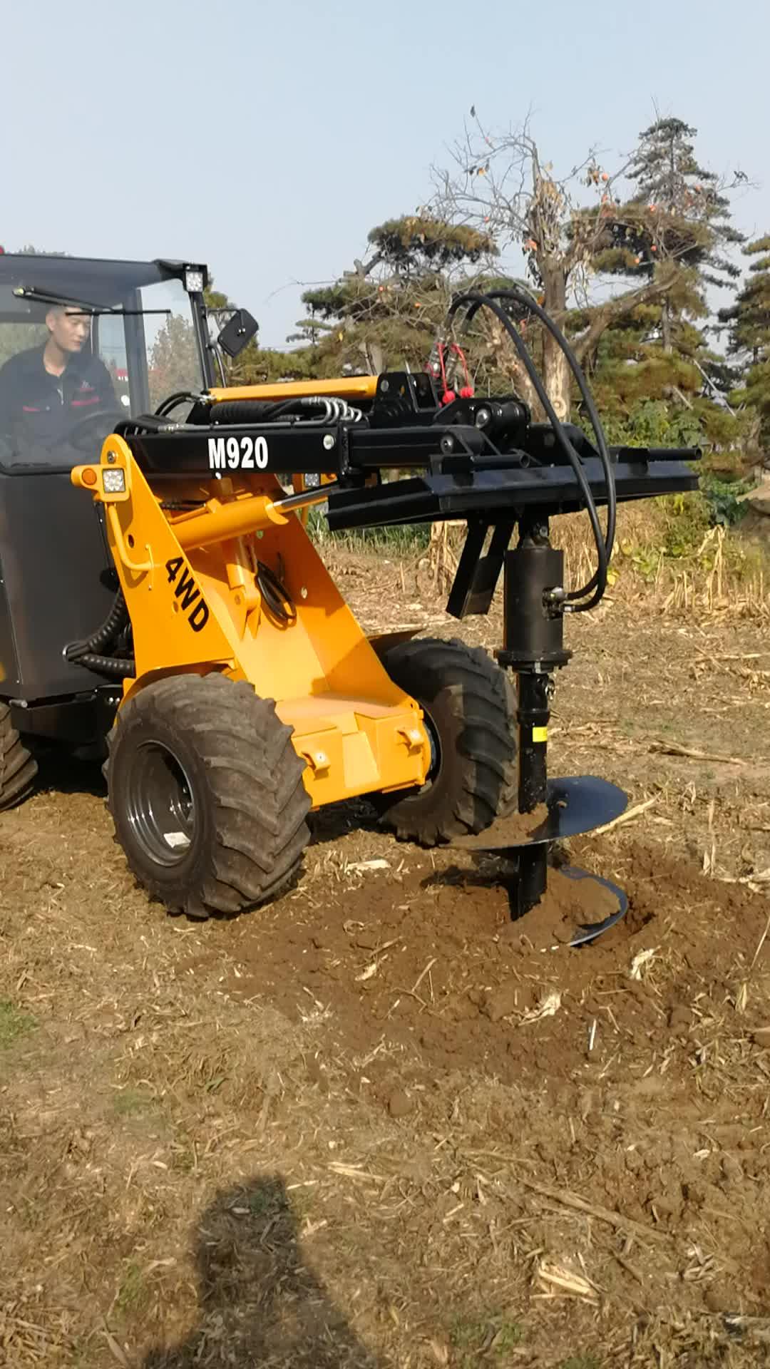 earth auger augers drilling wheel loader zl920 for bob cat skid loader