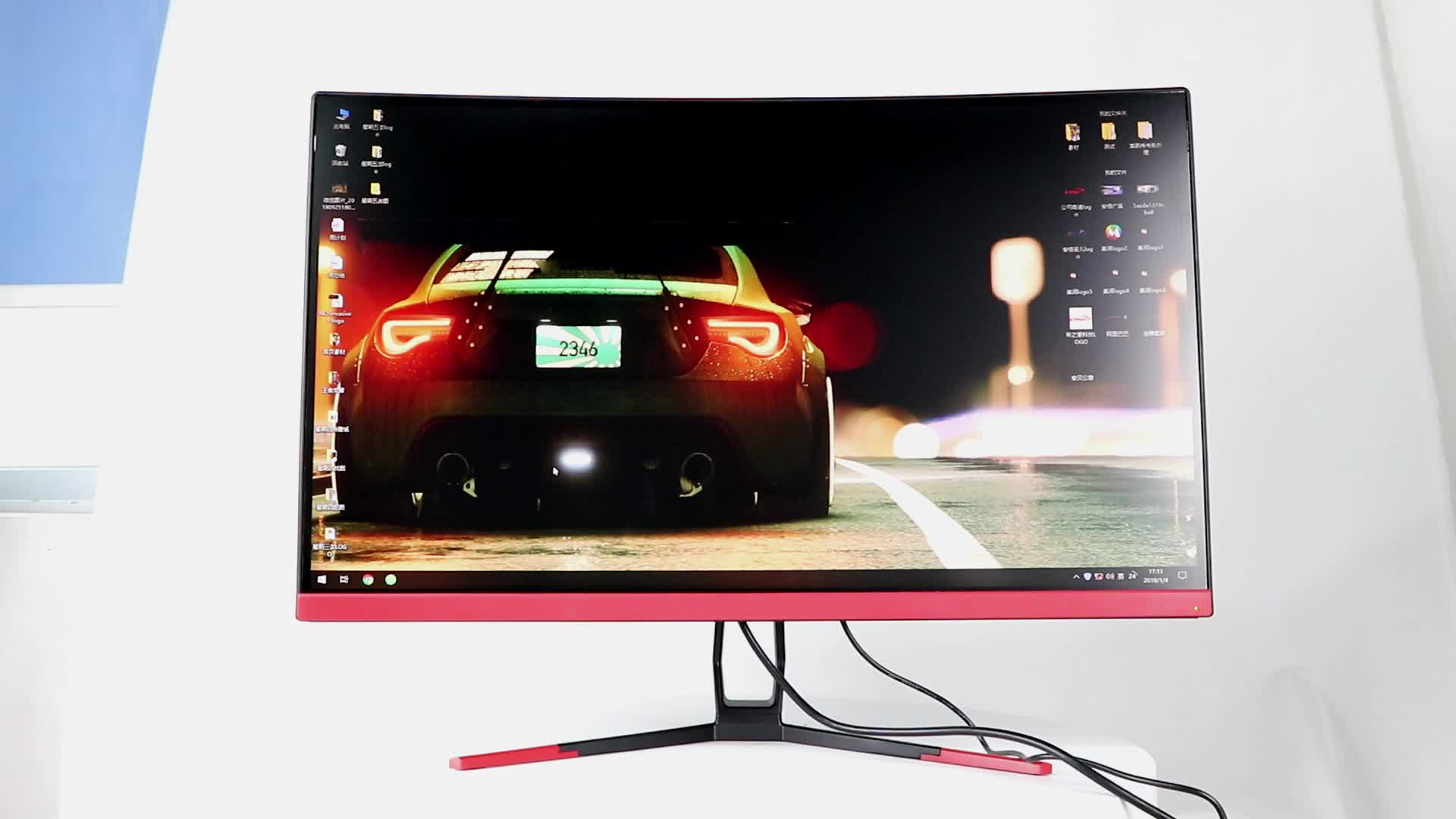 Ultra wide free Sync 24 27 inch 144HZ curved computer LED gaming monitor PC