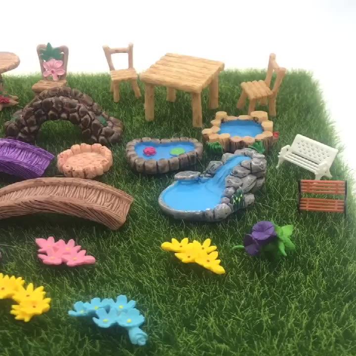 Peri teraryum aksesuarları tahsil rakamlar çim süs diy çocuk özelleştirilmiş oyuncaklar mini bahçe dekor
