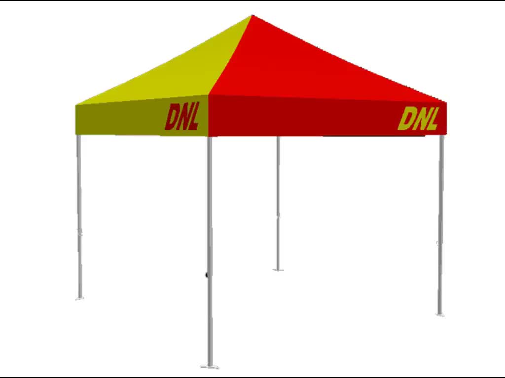 OEM 40mm 10*10ft steel frame 420D oxford cloth quick up tent
