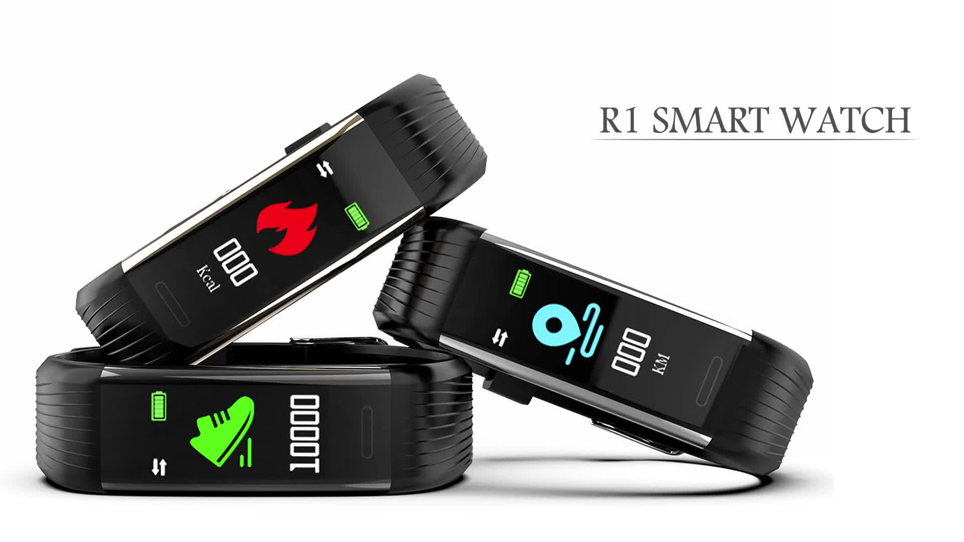 US Free Shipping R1 0.96in TFT Blood Pressure Fitness Tracker Smart Wristband