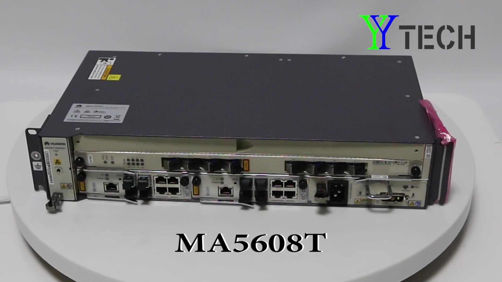 광섬유 FTTH 16/8 포트 10G EPON GPON 화웨이 OLT Ma5608T