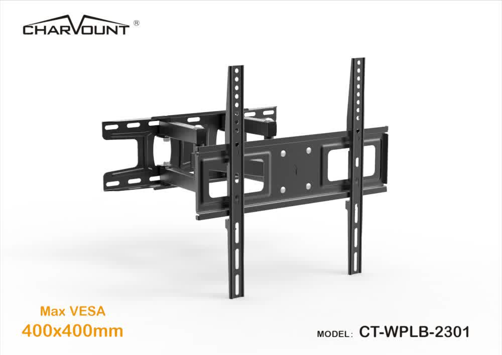 26''-55'' tv bracket accessories,120 degrees swivel and +8 to -12 degrees tilt articulating arm wall mounted bracket