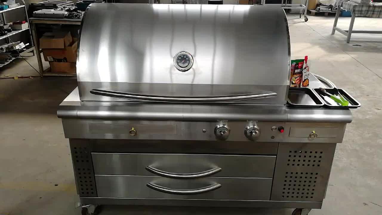 3 या 4 बर्नर अवरक्त इनडोर वाणिज्यिक औद्योगिक flameless तालिका के शीर्ष खाना पकाने bbq गैस स्टोव रेस्तरां के लिए Grills