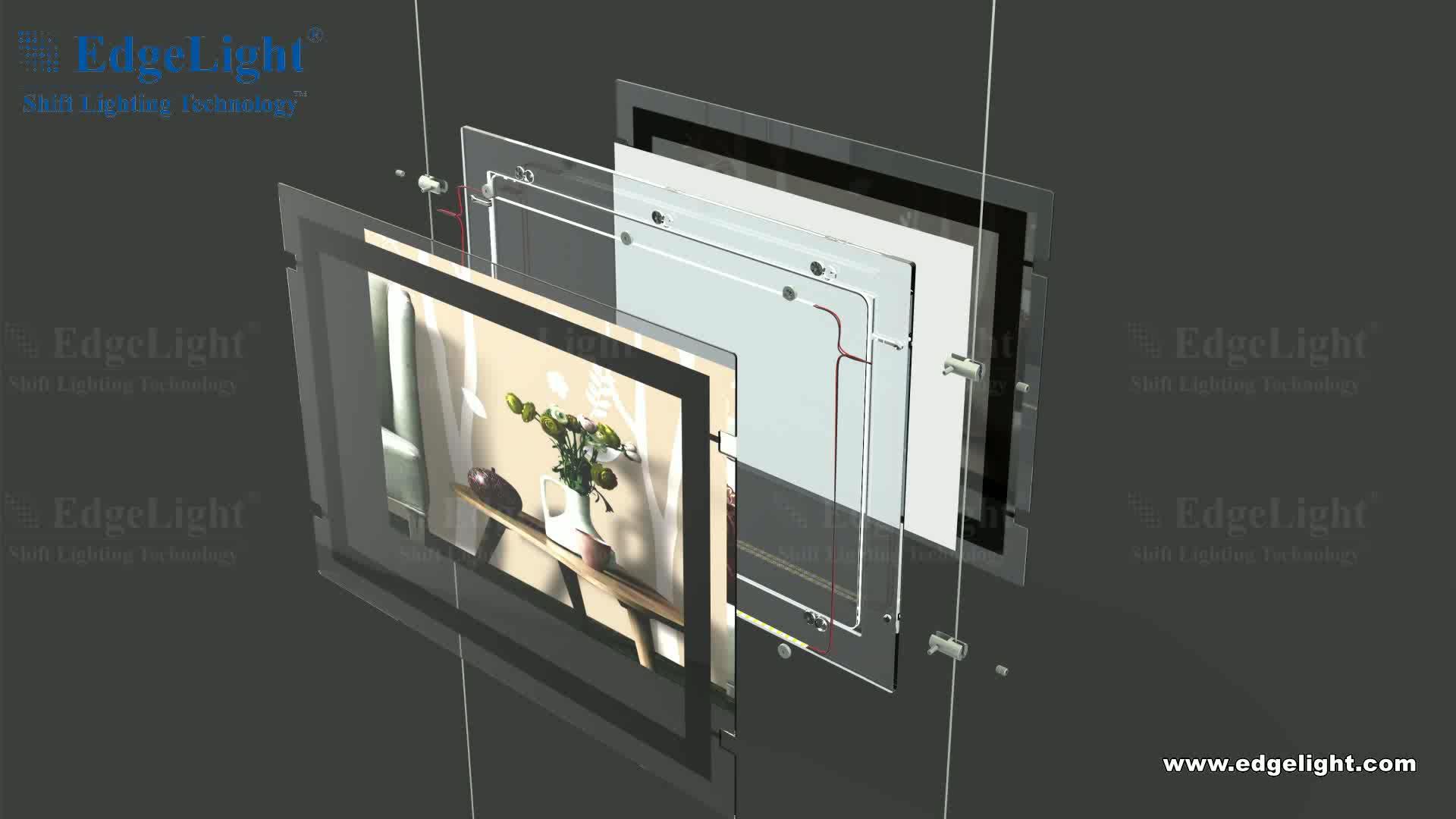 Window Display Restoran LED Papan Menu Tampilan Layar Kristal Lightbox
