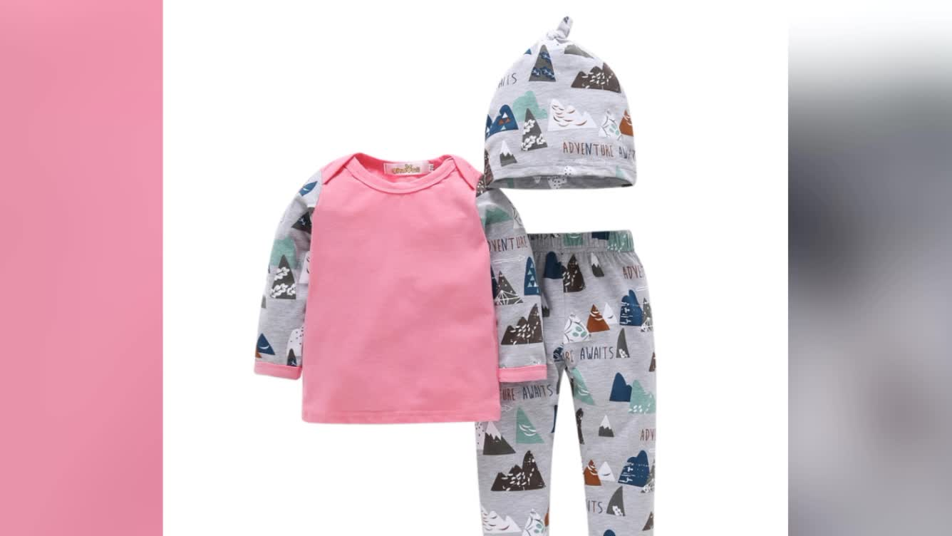 China online wholesale Infant clothing 3in1 baby boutique clothes rompers soft cotton baby wears