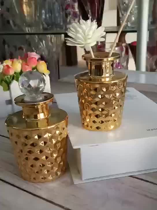 Room fragrance exotic unique perfume Diffuser glass containers bottles