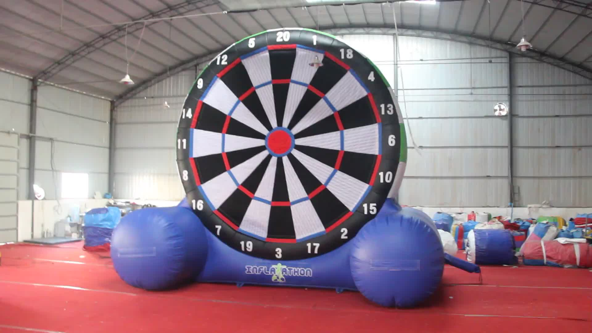 2019 hot sale double sides inflatable soccer dart board for sale