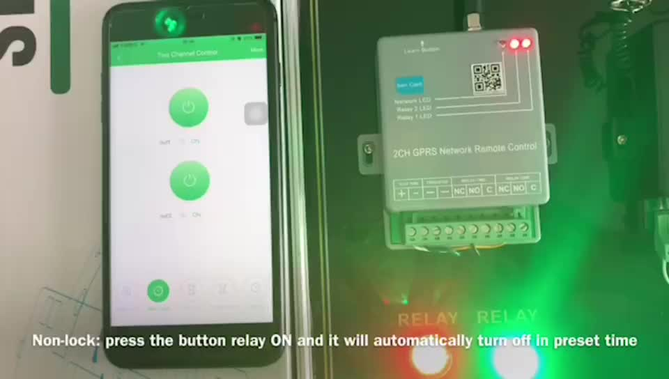 1 channel and 2 channel GPRS remote switch support APP control