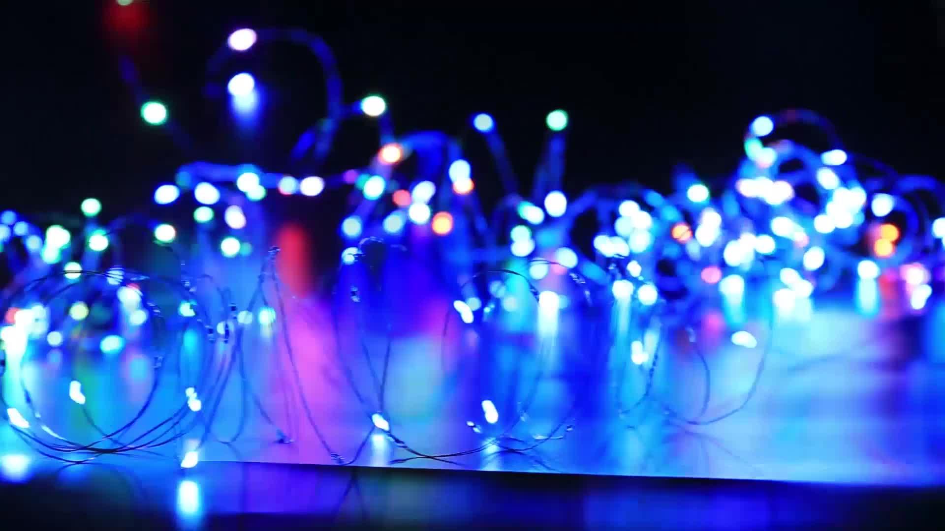 100 LED 33ฟุตไฟคริสต์มาสUSBเสียบสายไฟเปลี่ยนสีได้16สีสายไฟหิ่งห้อยด้วยรีโมทคอนโทรล