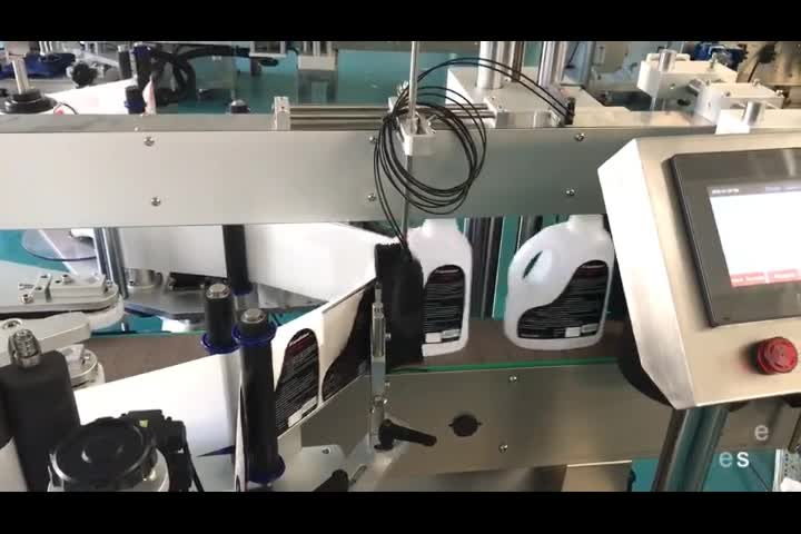 Automatic bottle labeling machine bottle labeler for flat or round bottle one side or two side sticker labeling label applicator