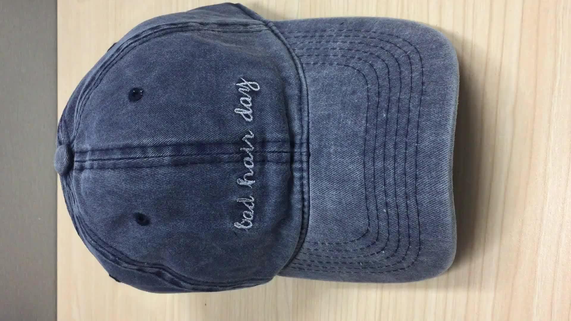 6 panel manufacturer wholesale fashion washed baseball dad cap and hat