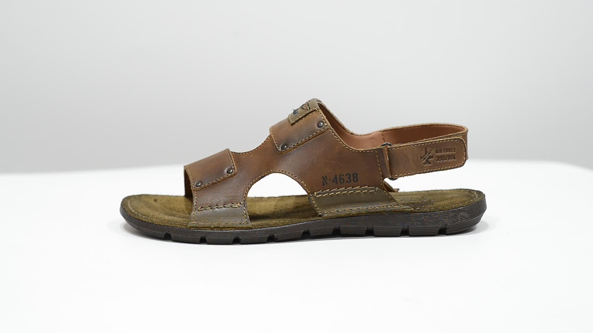 High quality mens genuine leather sandals, L536lk