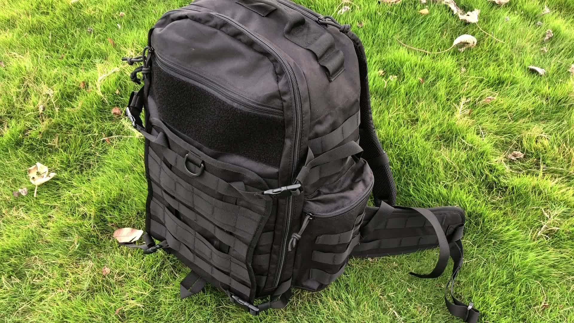 Chiến thuật Ba Lô Molle Daypack YKK Dây Kéo Cordura Nylon Bag cho Cắm Trại Đi Bộ Đường Dài Quân Sự Đi Du Lịch