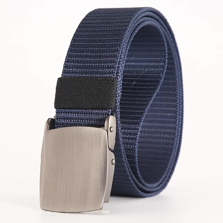 Men's Elastic Belt Nylon Multi-Function Quick-release Military Style Tactical Elastic Belt With Buckle
