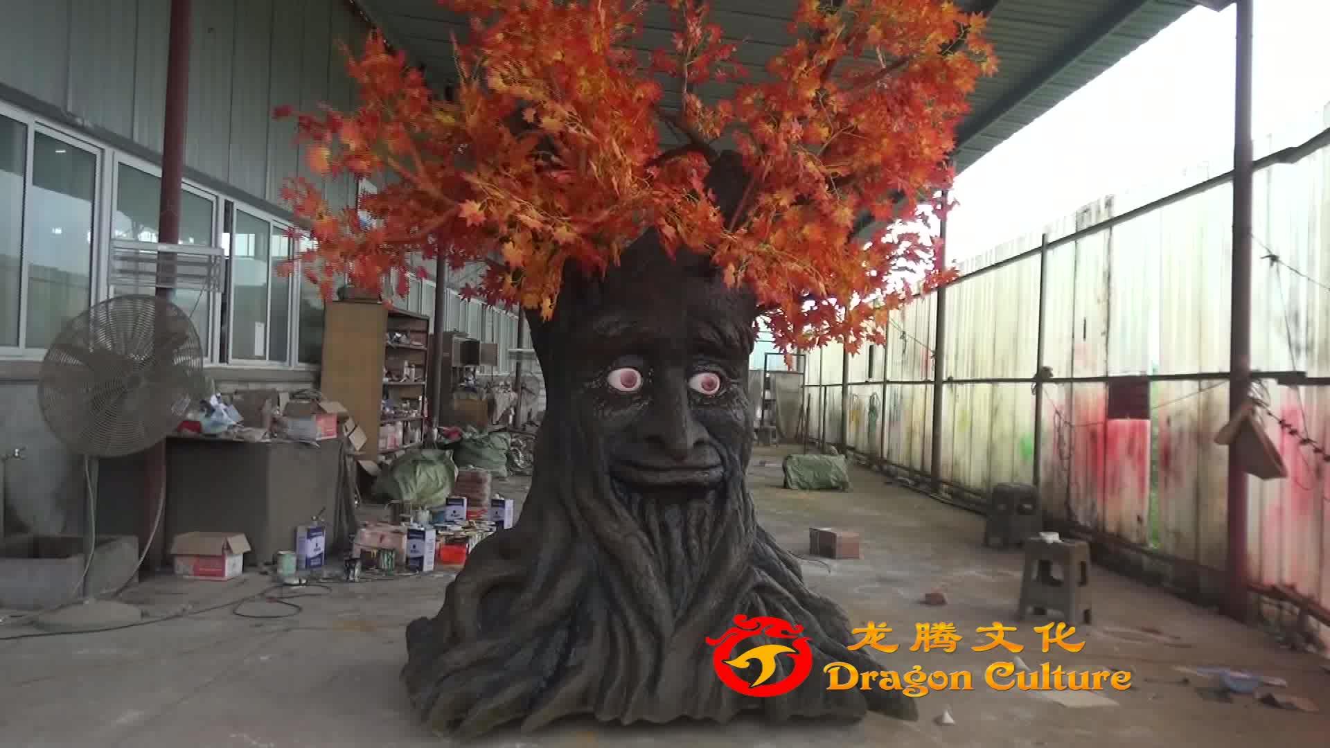 Pretpark Decoratieve Animatronic Afstandsbediening Praten Boom