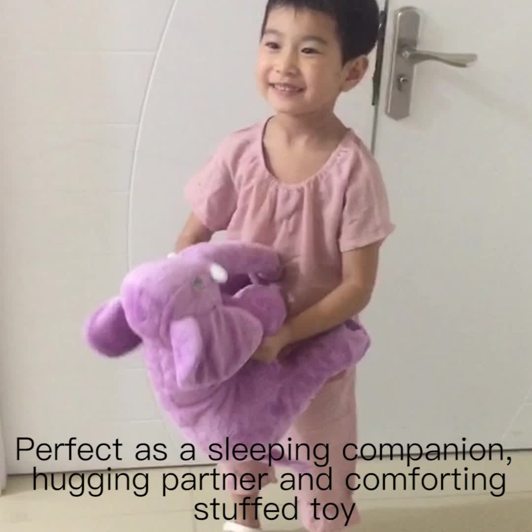 baby plush pillow long nose elephant doll cushion covers Original Design Children Home Toy as Buddies Child Elephant Pillow