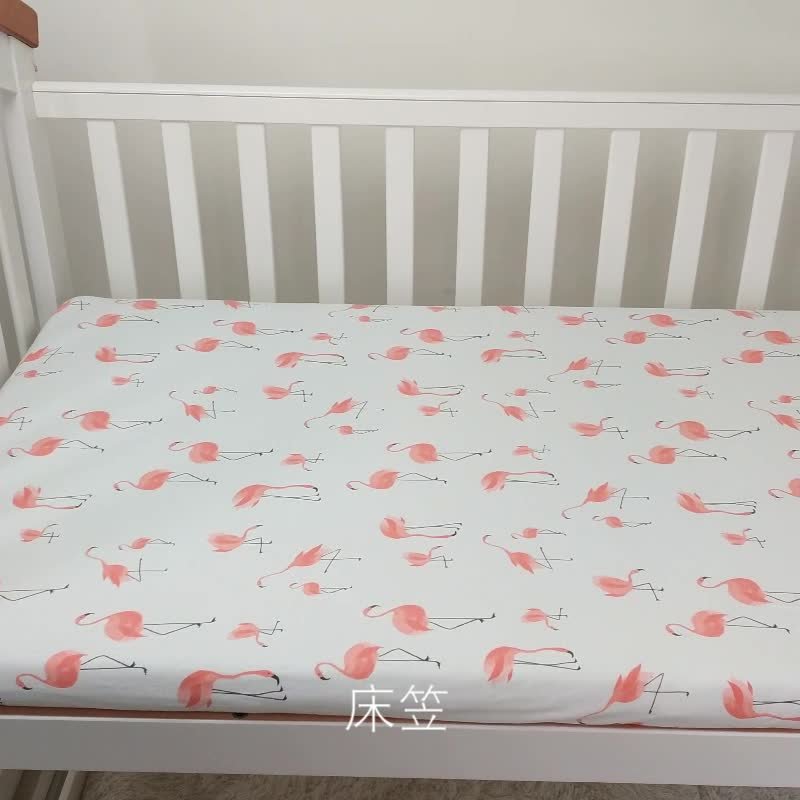 Muslin tree 70*130cm animal pattern100% cotton printed bedding fitted crib sheet