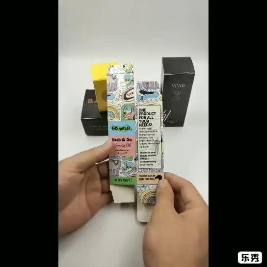 Personalizzato piccolo prodotto scatola di carta vaso di profumo bottiglia di scatola di tubo di carta con imballaggio logo personalizzato di progettazione