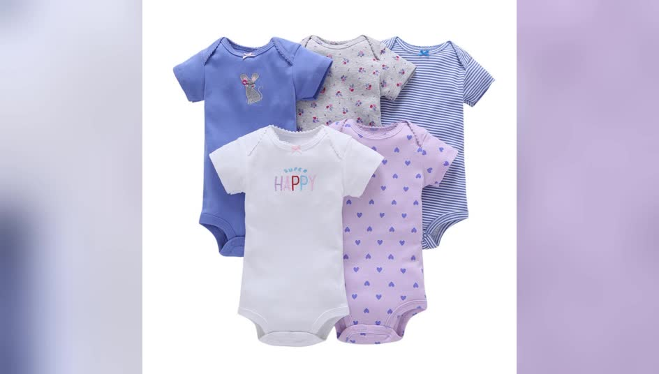 100% cotton short sleeve newborn baby rompers