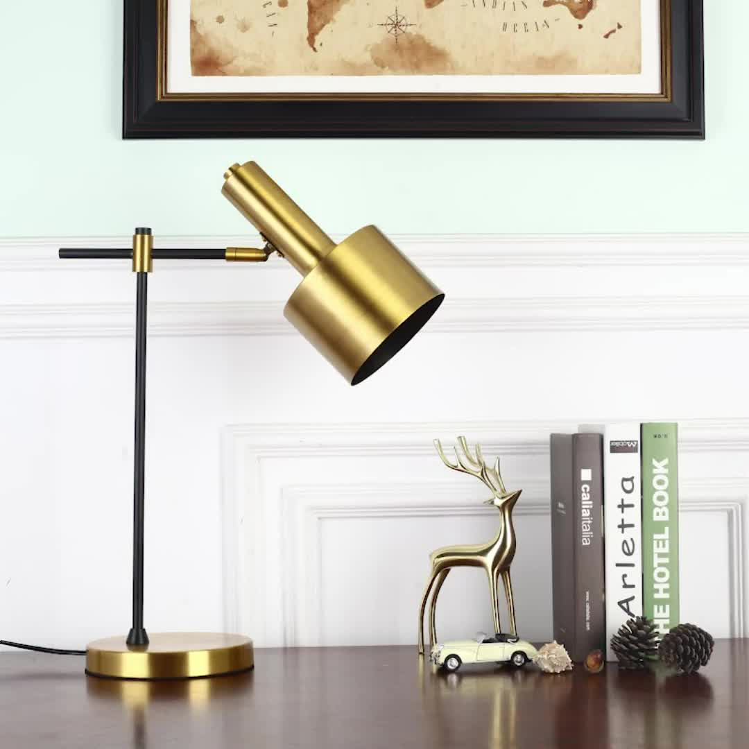 Brass Table Lamps For Living Room: Simple Chinese Bedroom Lamp Brass Table Lamp For Hotel
