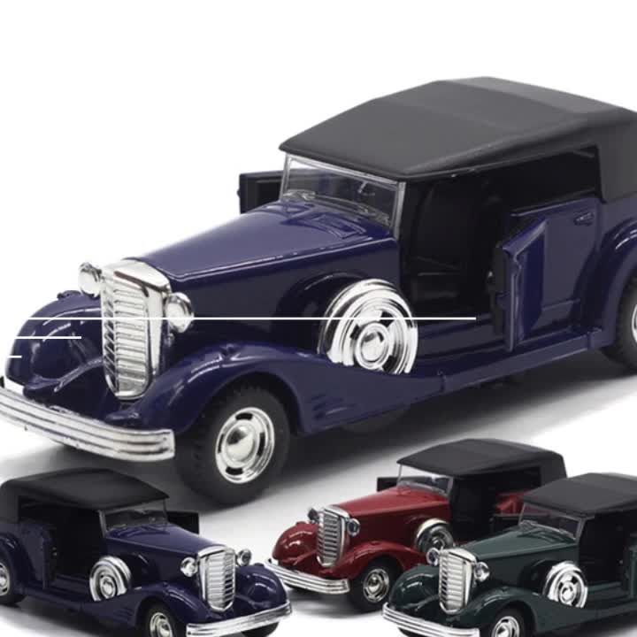 Wholesale diecast cars vintage car model 1:34 scale models cars collection cars scale random delivery