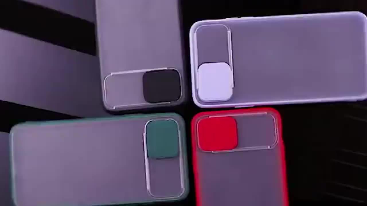 スライドカメラカバー電話ケース耐衝撃tpu保護携帯電話アクセサリーiphone 11/iphone 11 pro/iphone 11 pro max case