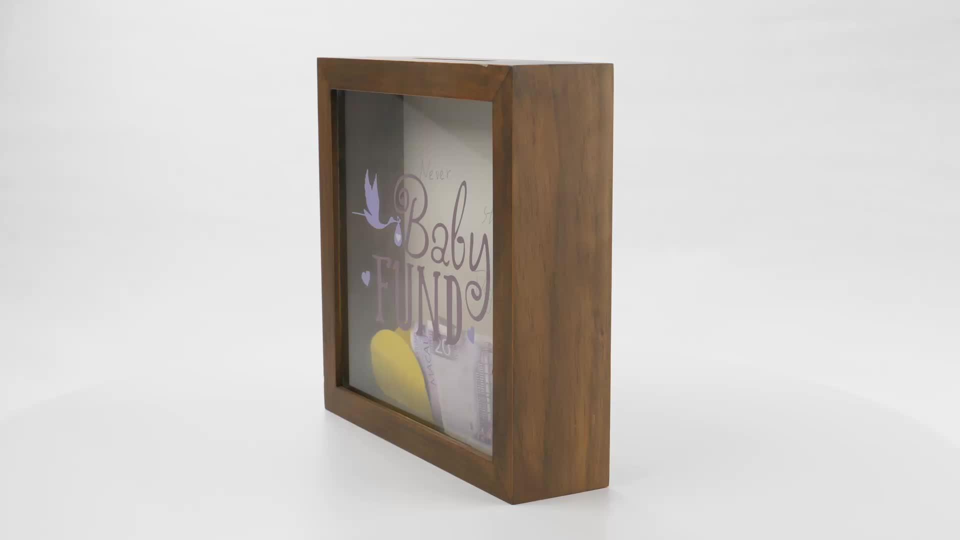 Hochwertige Desktop Display Münze Sammlung Holz 3D Schatten Box Rahmen Ticket Saving Stub Halter Fall