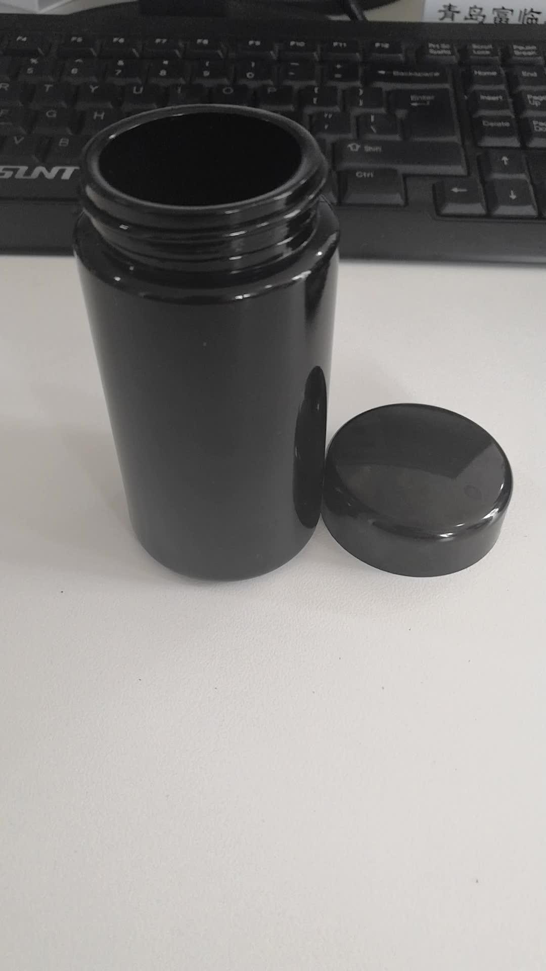 4 unzen transfer druck kind beständig flache deckel jar oder klar und alle schwarz klarglas flasche für hanf
