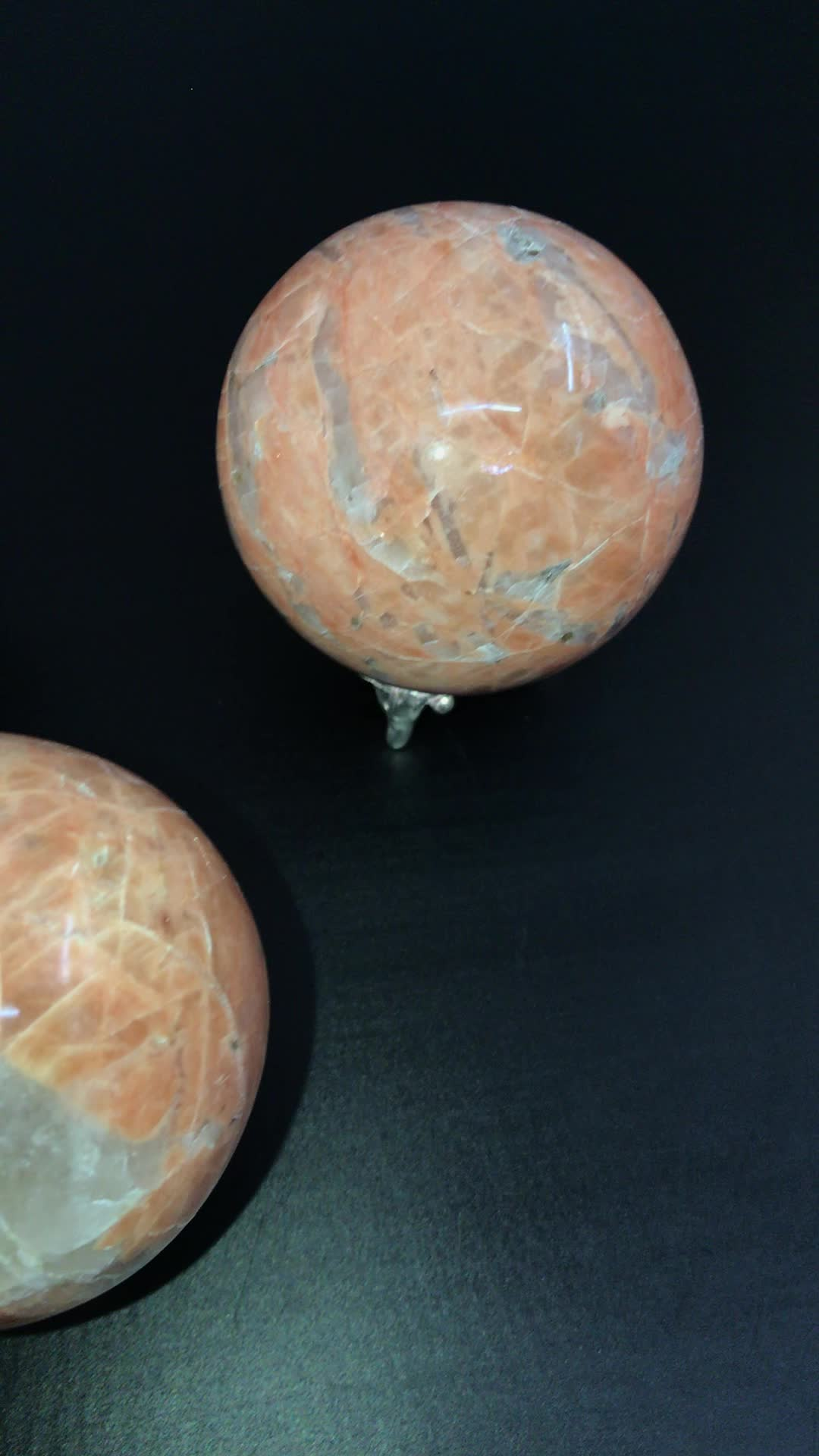 Gemstone Peach Aventurine Ball And Sphere