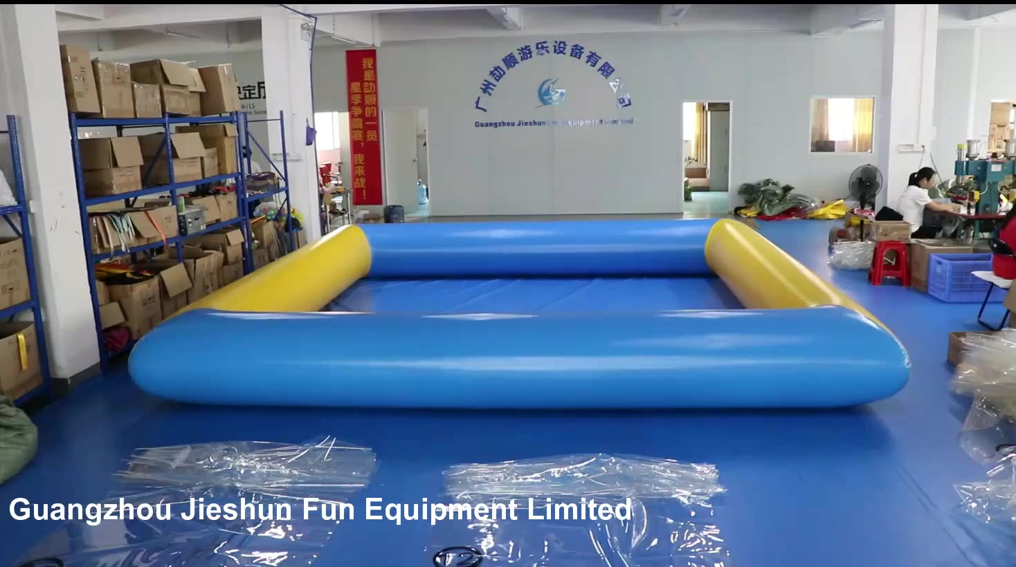 Manufacturer  high quality Plato PVC Tarpaulin bouncy inflatable water pool