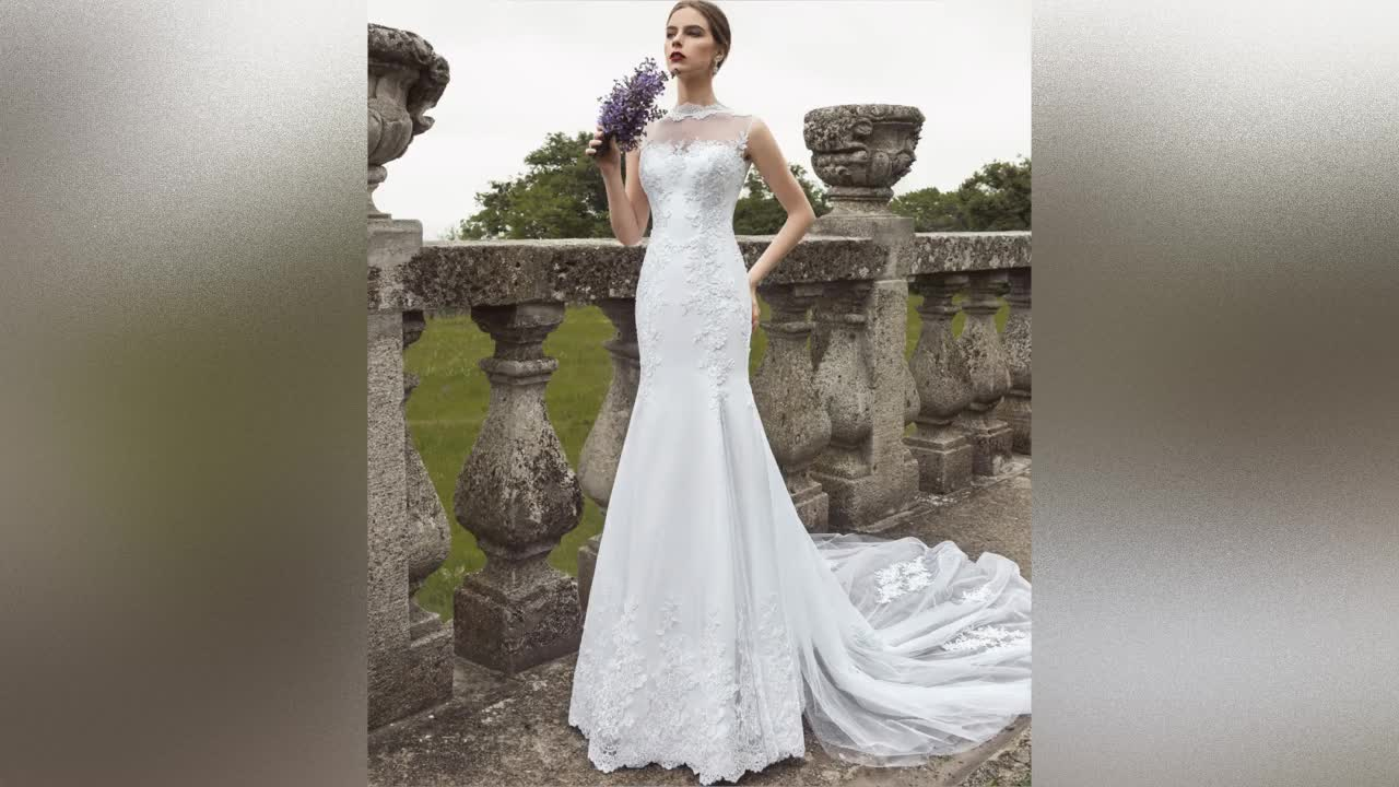 Mermaid Bridal Dresses Africa Wedding Dresses 2019 Cheap Wedding Gowns with Fishtail Lace Bridal Wedding Dress A193