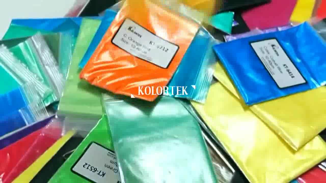 Lüks kozmetik yeniden renklendirilmiş mika inci köpüklü Pigment epoksi reçine renk pigmenti mika tozu