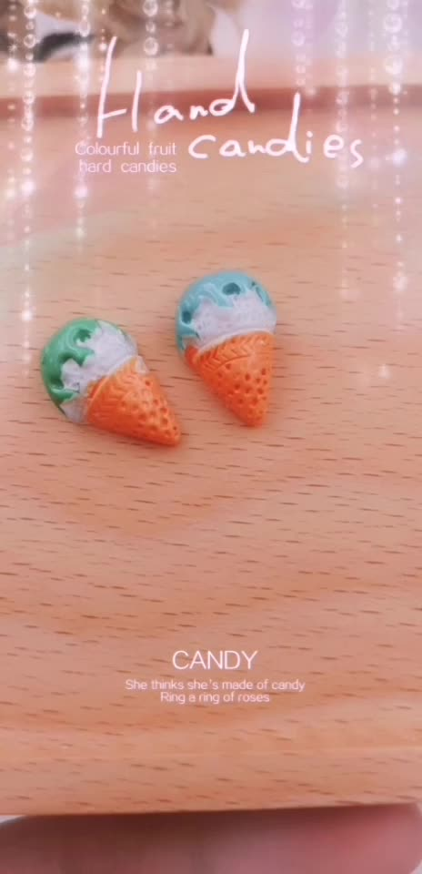 Grab Bag of Polymer Clay Ice Cream Cones Realistic Looking Craft Supplies RES-1283