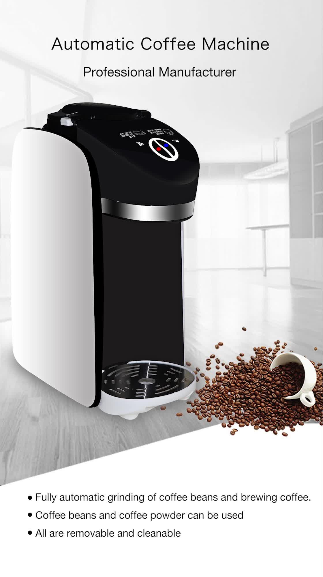 Kleine koffieautomaat/automatische koffie machine/boon tot kopje koffie machine