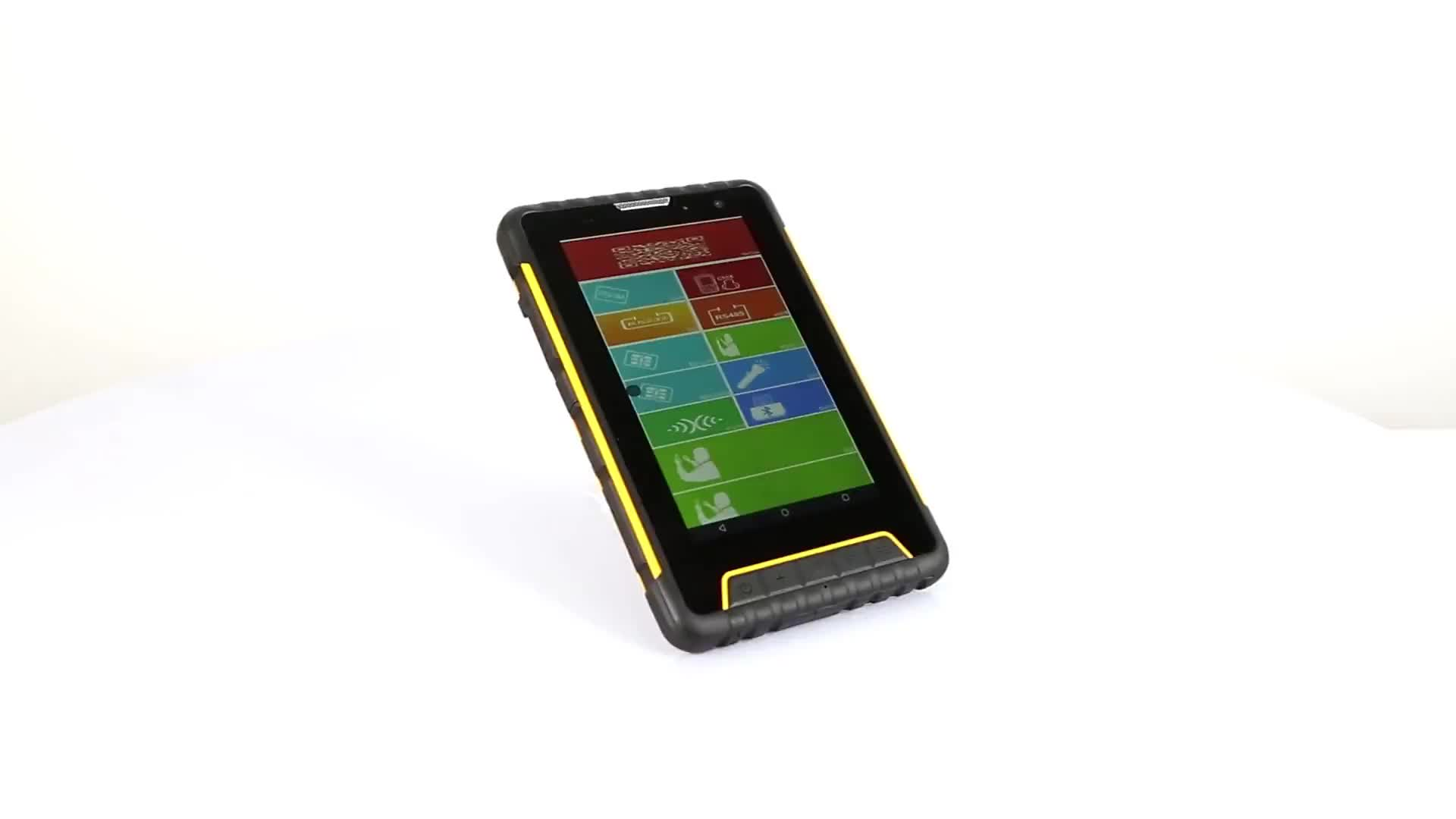 7 inch NFC IC card barcode reader Rugged IP67 android 6.0 industry tablet android